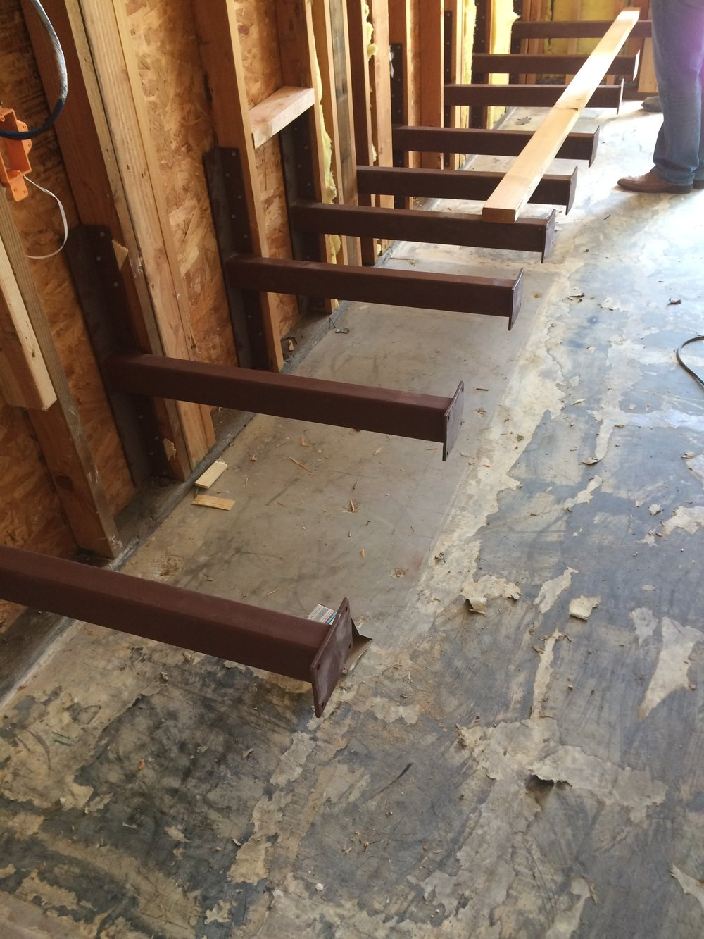 Fireplace Bench Bracing