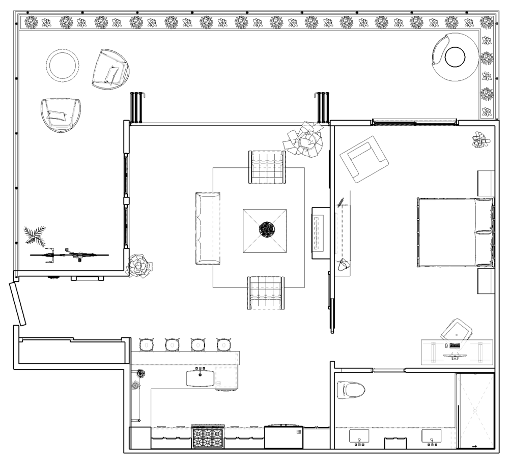 Floor Plan in SketchUp