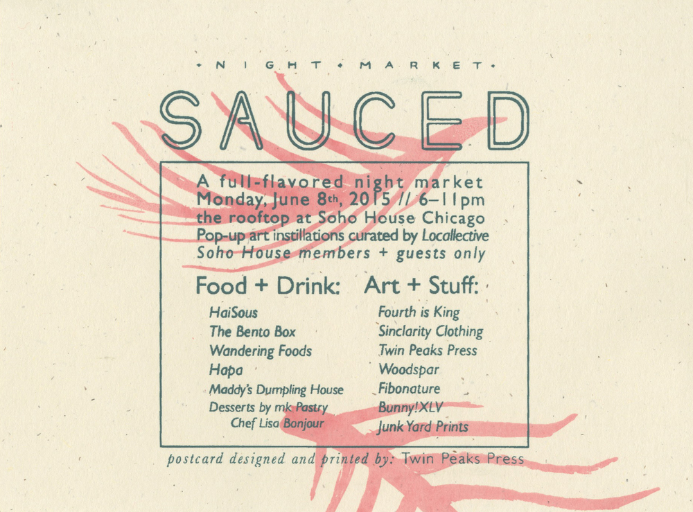 postcard for Sauced Night Market