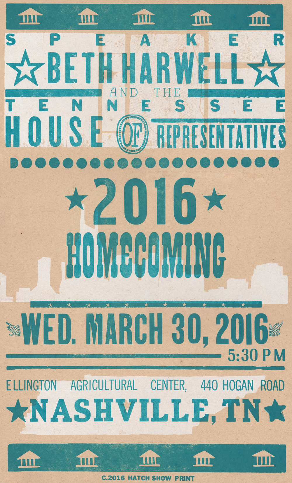Tennessee House of Representatives Homecoming Poster