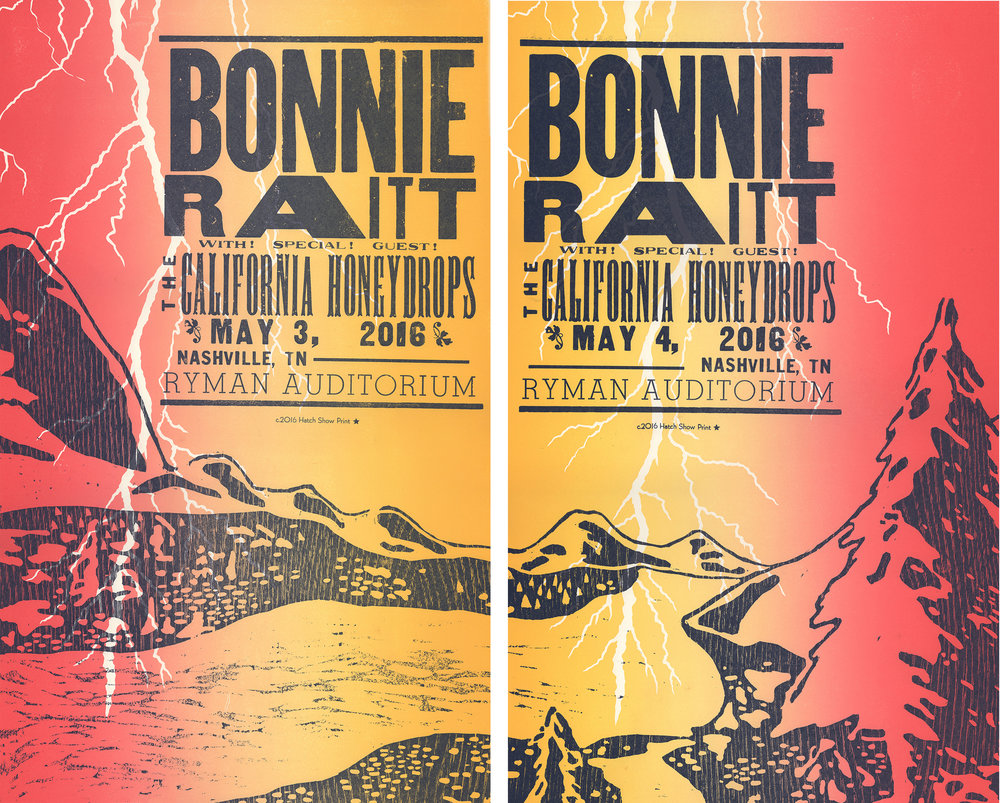 Bonnie Raitt, Two Night Posters
