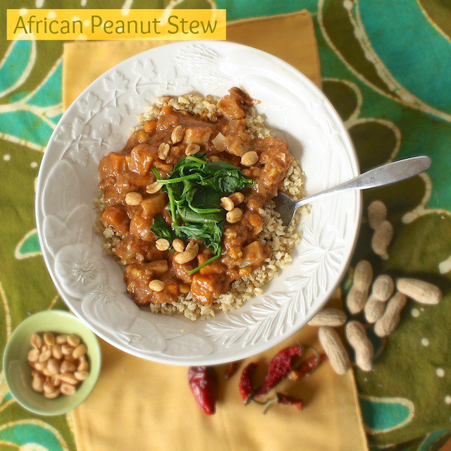 African Peanut Stew with Quinoa, from Teaspoon of Spice