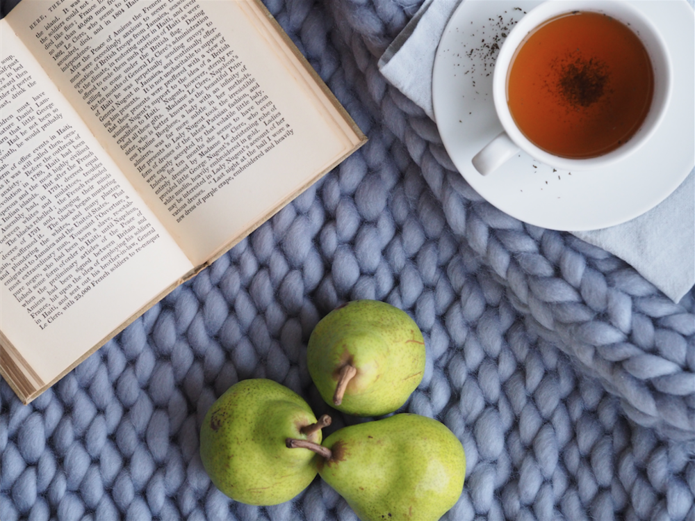 Nourish Pear Tea Book Blanket