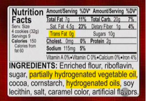 """In this case, """"0g"""" does not mean """"no trans fat""""."""