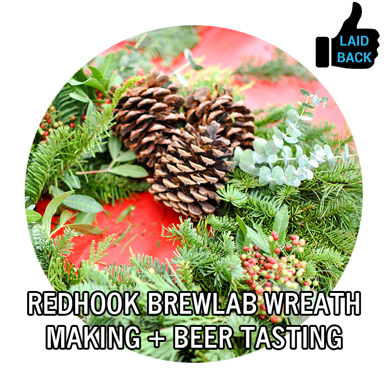 Wreath Making and Beer Tasting