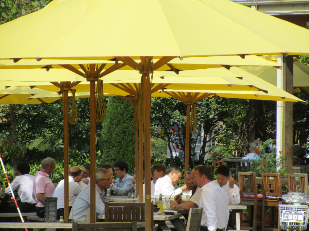 Restaurant Cafe Umbrellas Bambrella USA Sales Office Market - Commercial table umbrellas