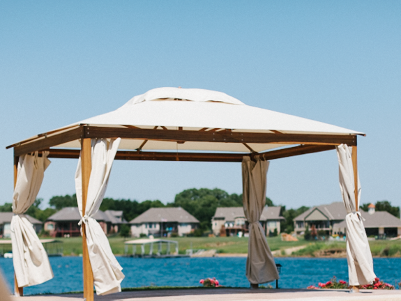 The 10 ' x 10' Alize Pavilion is the perfect canopy for your event!