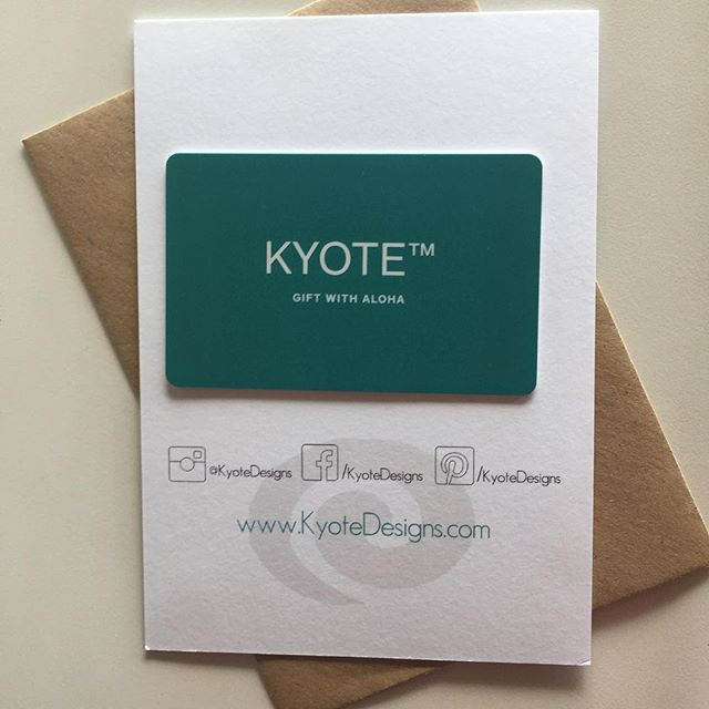 It's Sunday... be sure to come to Kailua Farmer's Market today 8:30 to Noon. Holiday gift idea: Kyote gift cards ♥️ #kyotedesigns  #madeinhawaii #alohafarmlovers #kailua