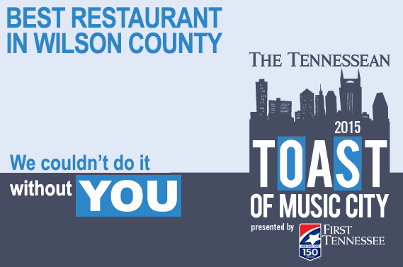 Tennessean Toast Of Music City Award