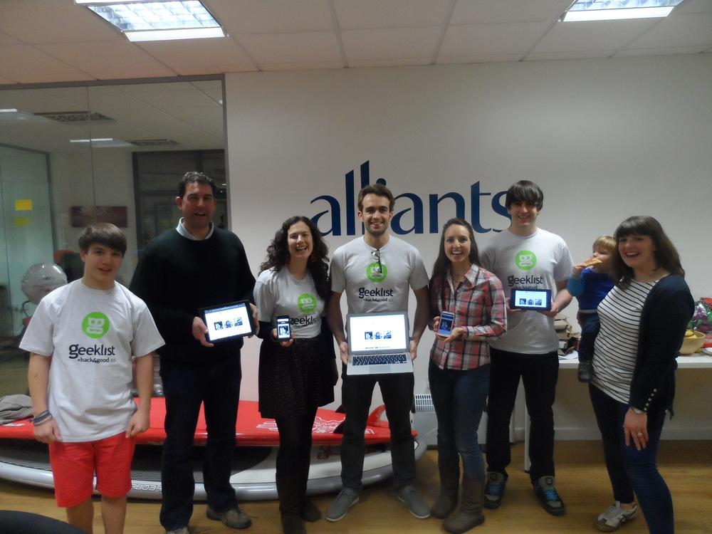 Josh, Tristan, Charlotte, Sam, Elbrie, James & Antonia - hacked for good!