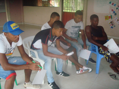 Afro-Colombian youth participating in the media-education program