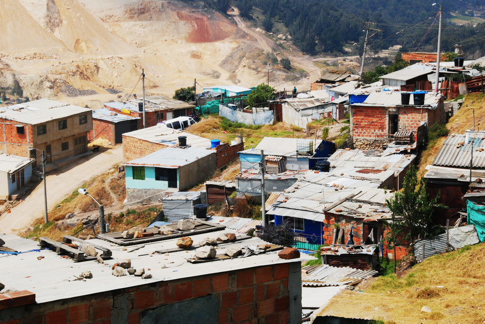 Cazucá is one of Colombia's biggest urban slums, with a high percentage of internally displaced people (IDPs) and economic migrants