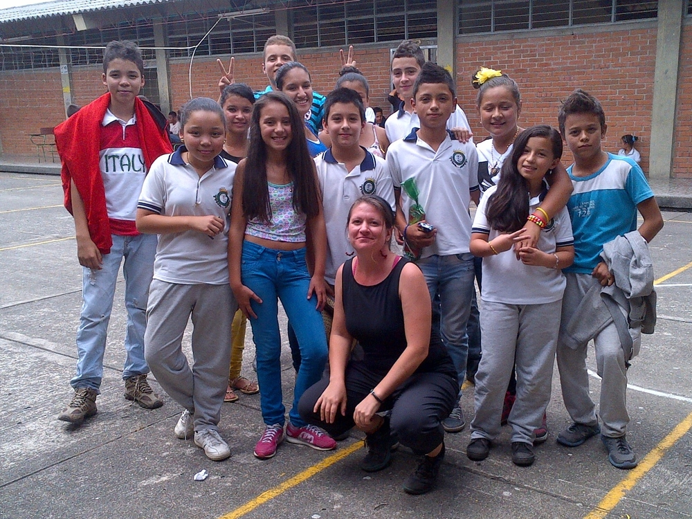With the students from Patio Bonito