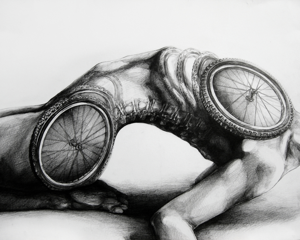 Mechanics of Life, 2011, Graphite on paper, 18 x 24 inches