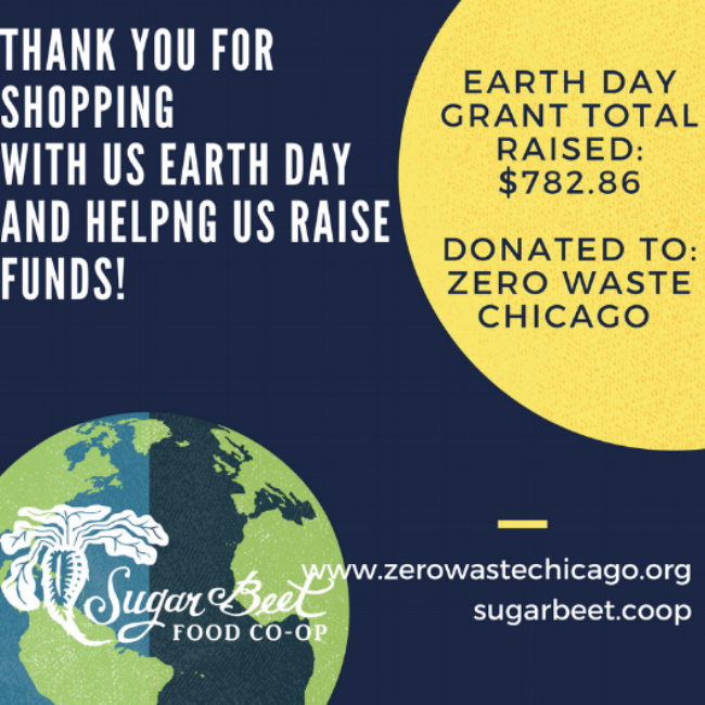 On Saturday, April 22, 2017 we celebrated our Earth, shopped, and came together in support.  5% of our Sales for Earth Day was donated to Zero Waste Chicago.