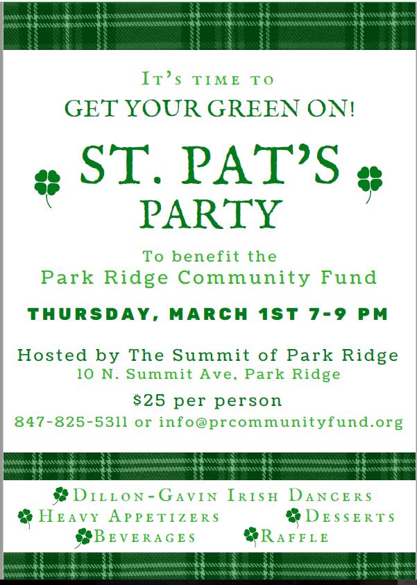 Checks payable to 'Park Ridge Community Fund'