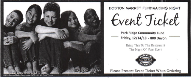 Boston Market Fundraiser for PRCF