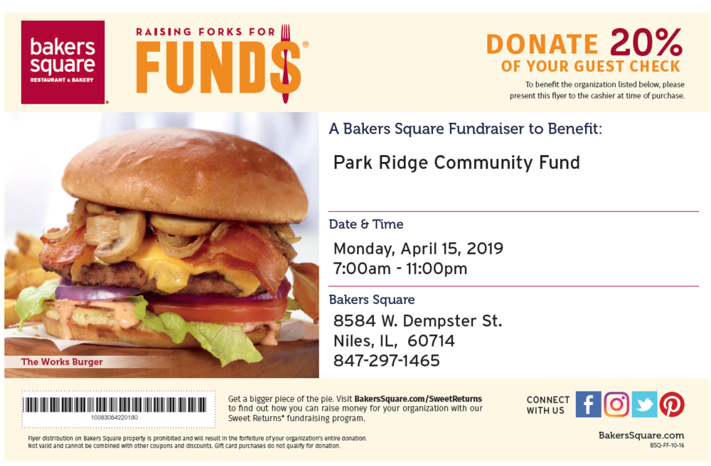 Dine at Bakers Square on April 15