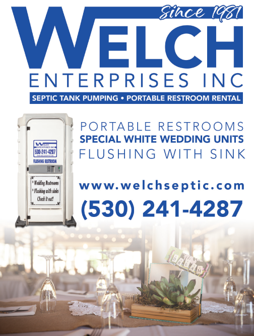 Redding Wedding Welch Enterprises Portable Restrooms