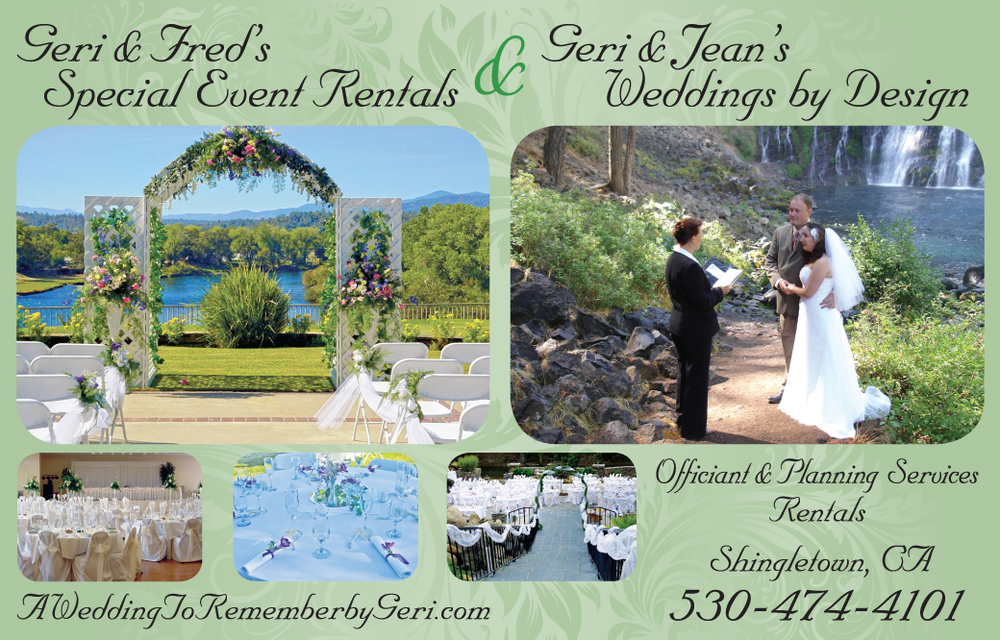 Redding Wedding Coordinators Geri and Jean Weddings by Design
