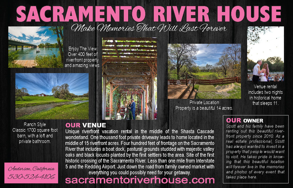 Sacramento River House North State Bridal Guide