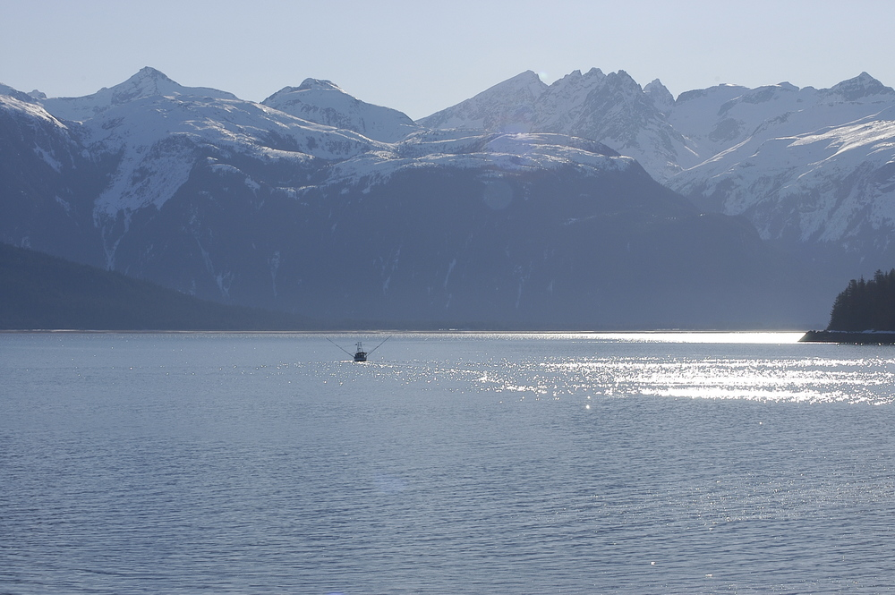 Jamie heading out of Haines into Lynn Canal and south 80 miles to Juneau, Alaska