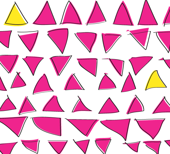 triangle pattern // blog-action