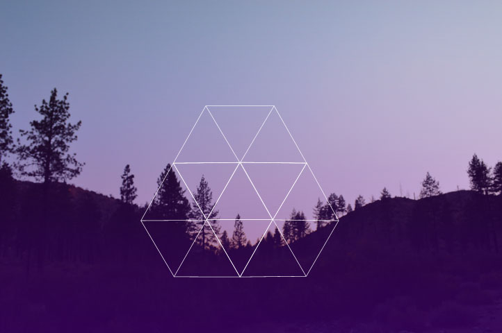 Geo Triangles Nature // Blog-Action