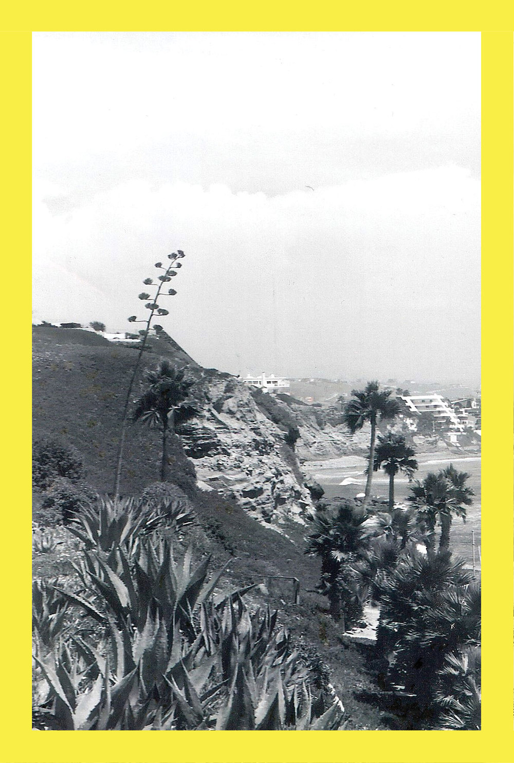 black and white cliffside 2 yellow frame // blog-action
