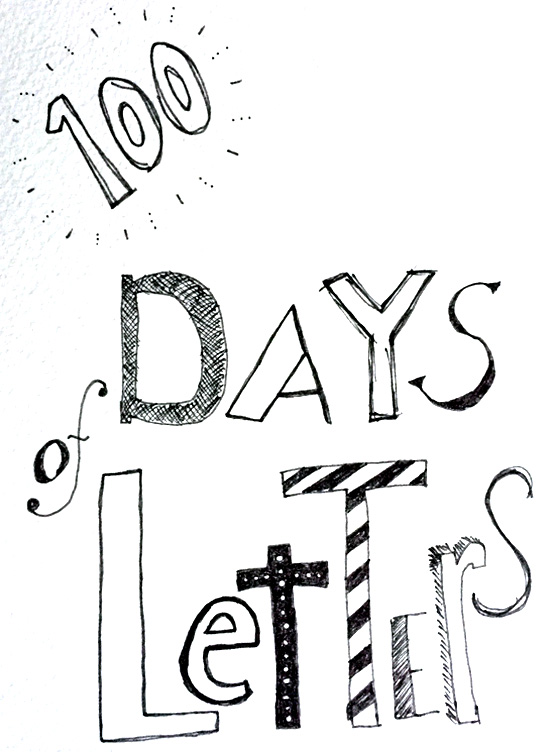 100 days of letters // Blog-Action