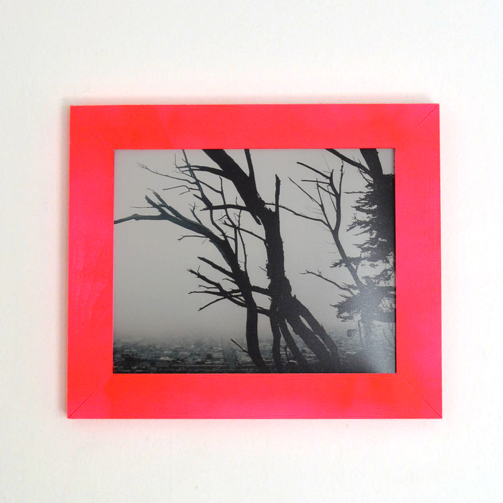Fog & Tree in pink frame // Blog-Action
