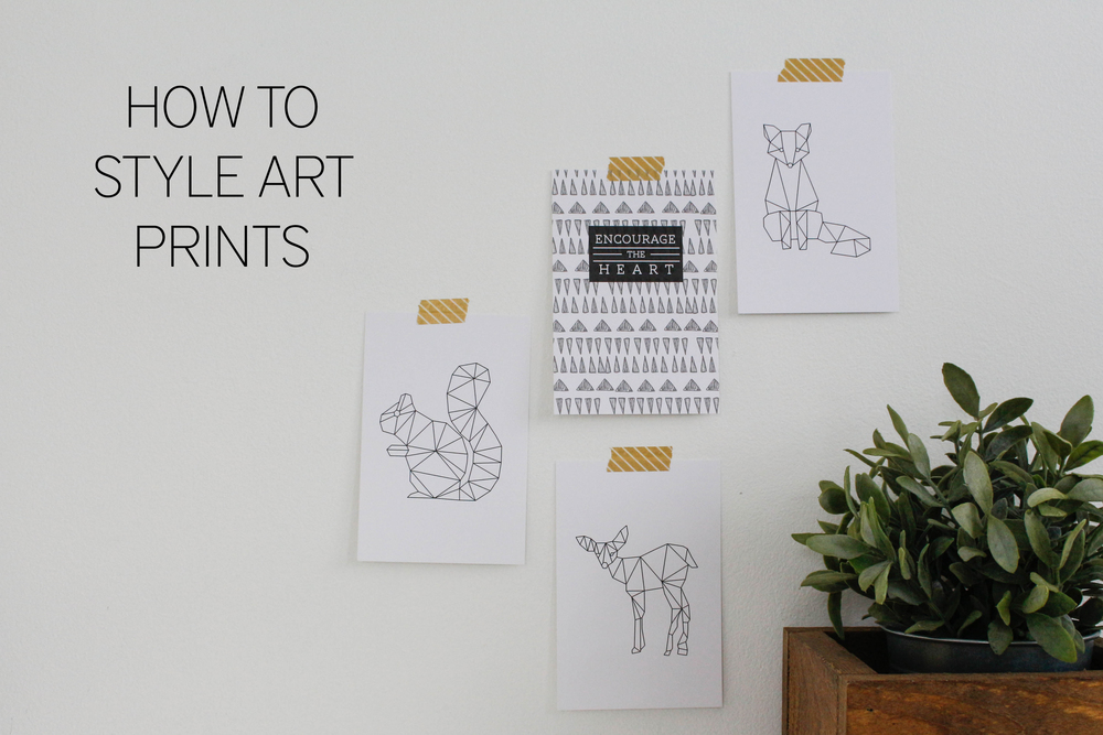 How to Style Art Prints
