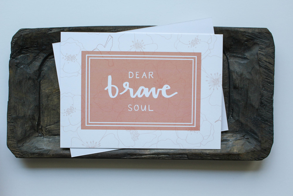Dear Brave Soul // Hand-Lettered and Hand-Drawn Details // Machelle Kolbo for Wax Buffalo