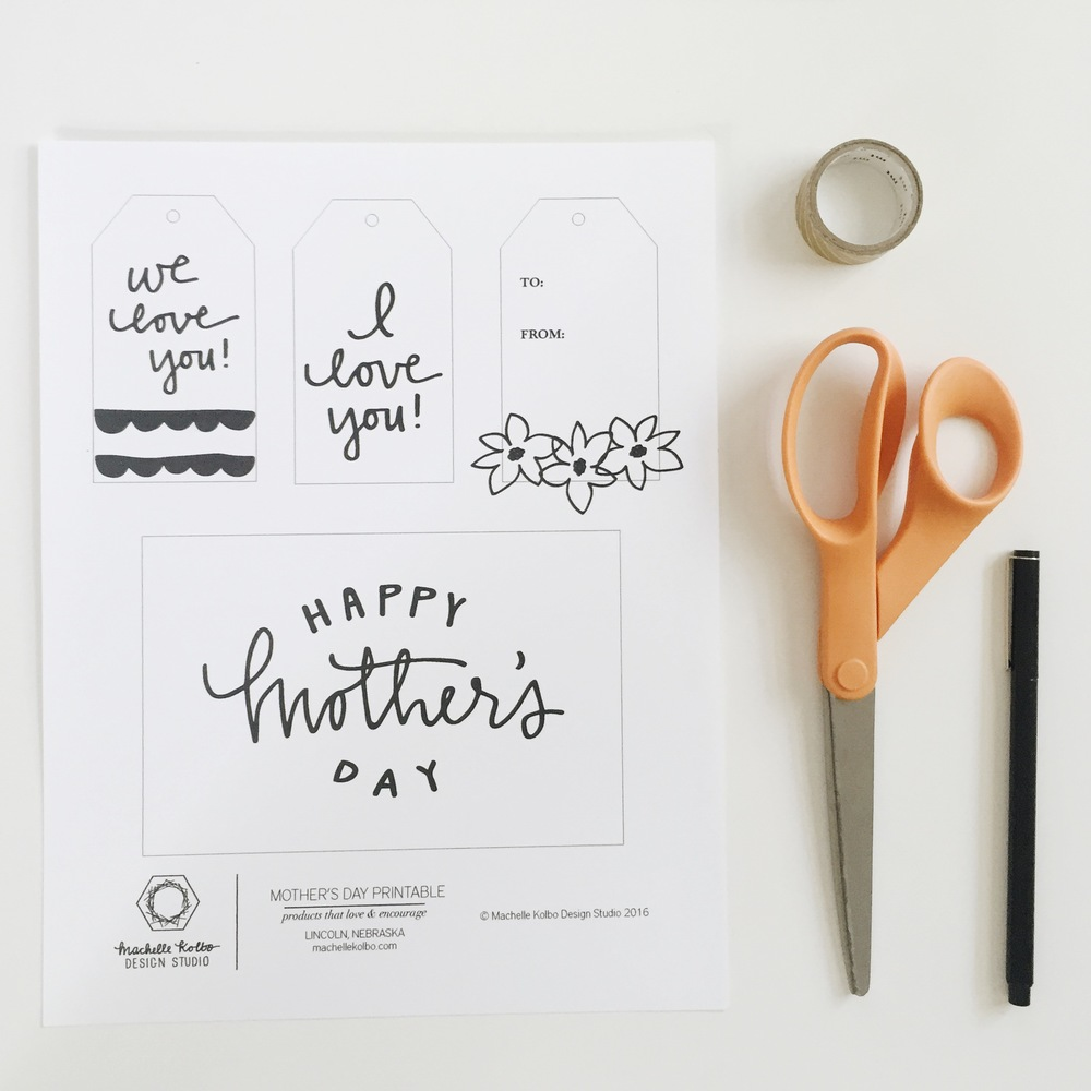 MothersDayPrintable // Machelle Kolbo Design Studio
