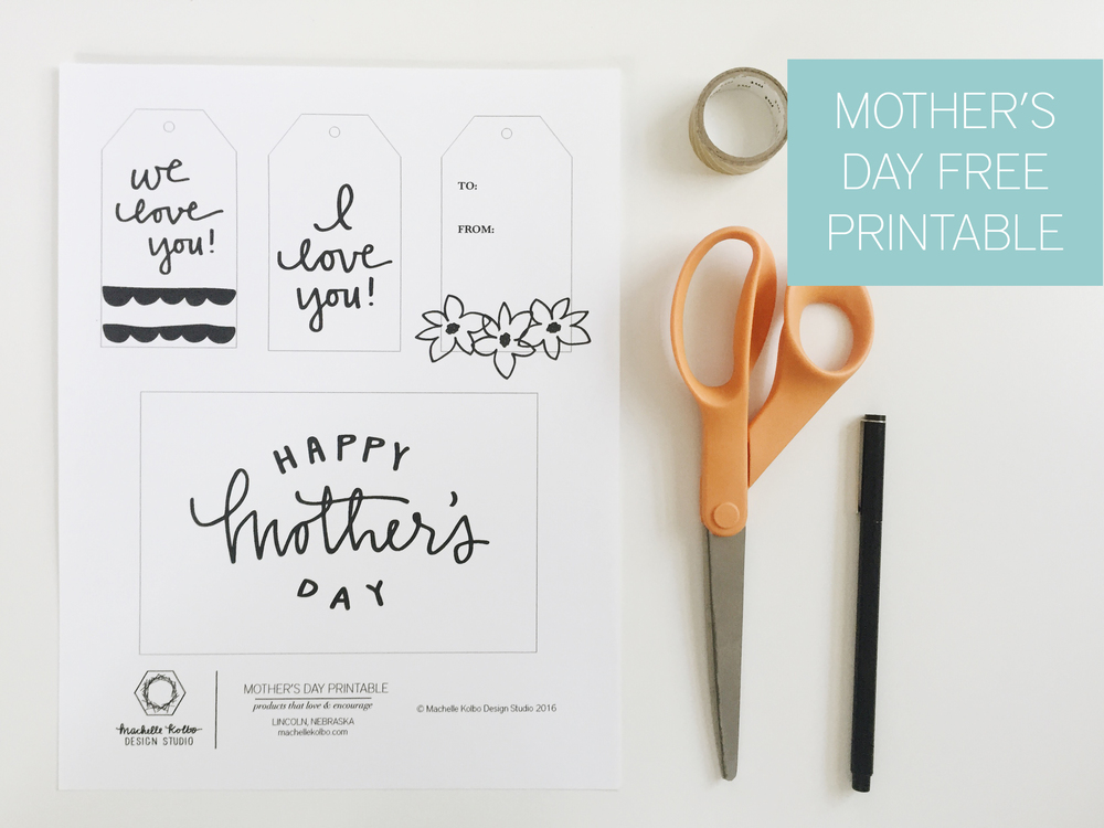 Click Here to Download Mother's Day Free Printable // Machelle Kolbo Design Studio