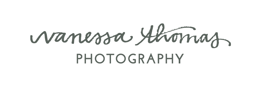 Branding: Vanessa Thomas Photography // Text Logo // Machelle Kolbo Design Studio