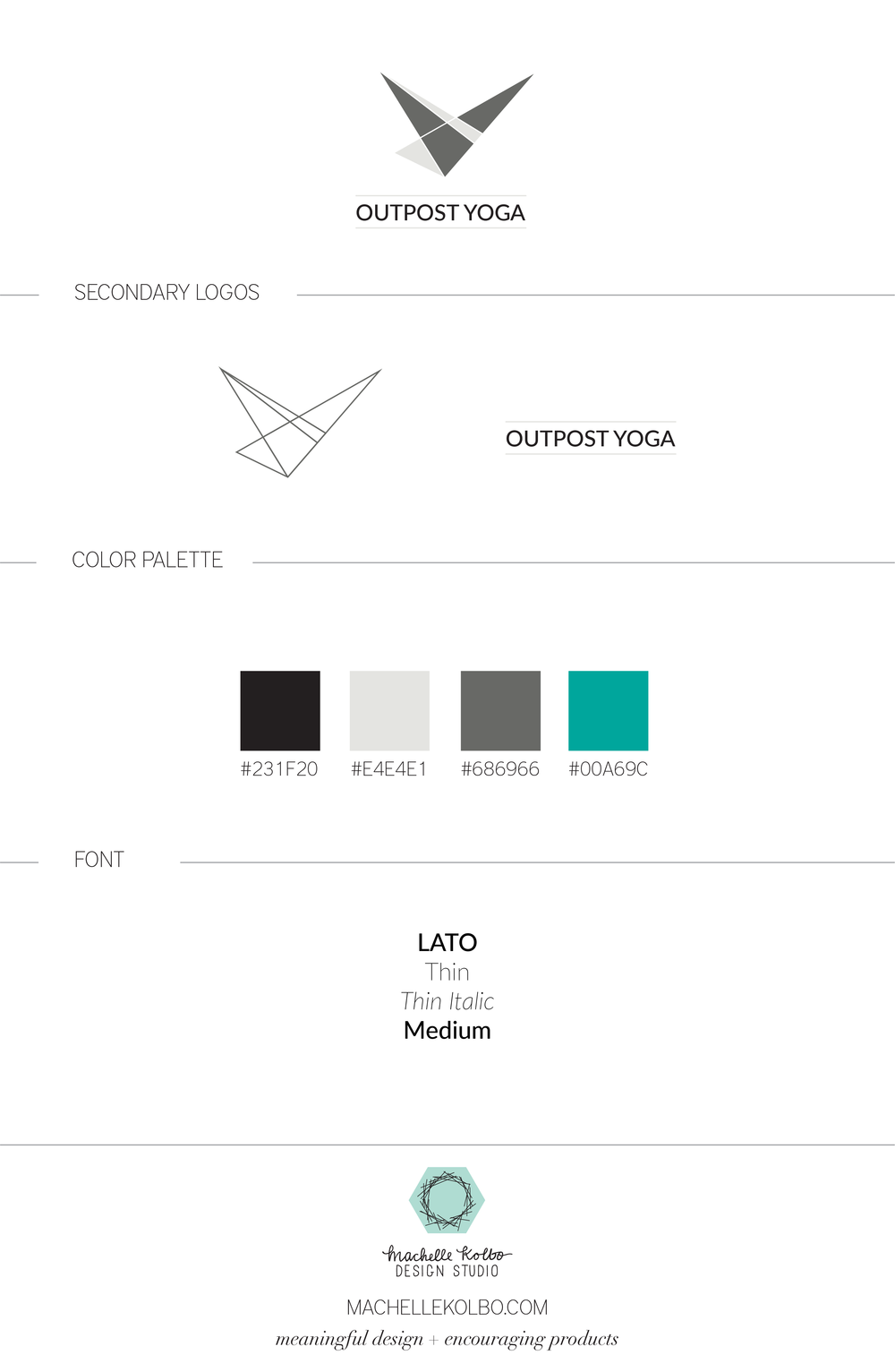 Outpost Yoga | Machelle Kolbo Design Studio