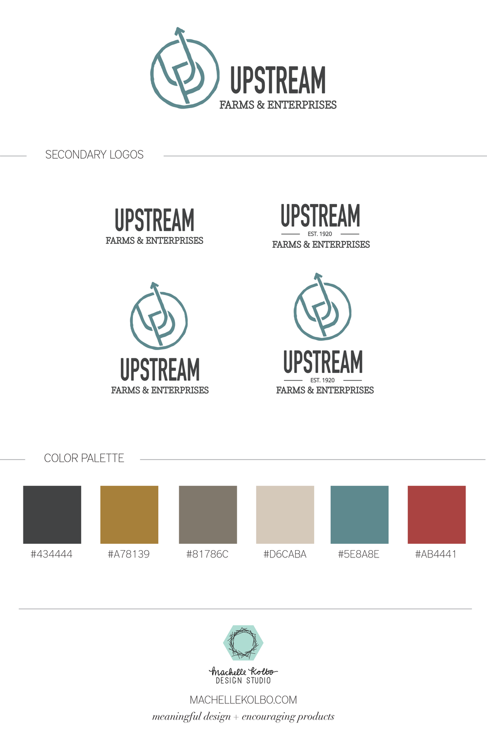 Upstream Farms Final Brand Identity