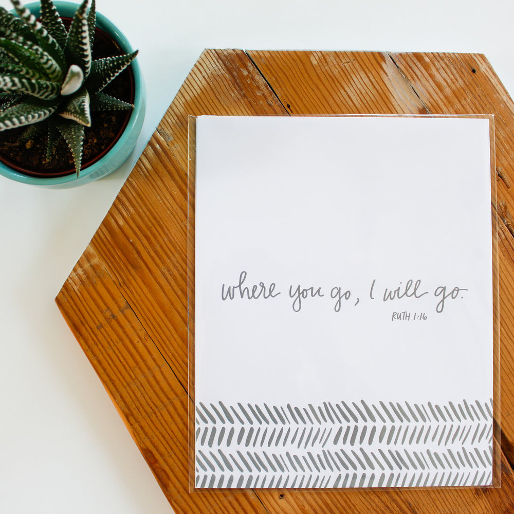 Machelle Kolbo Design Studio | Scripture Art Print