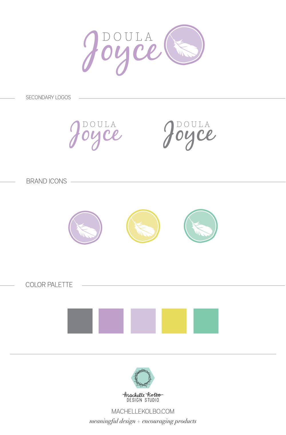 Doula Joyce Brand Identity Style Sheet