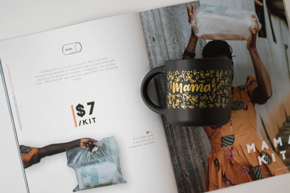 The Mama Mug | $7 from the sale of every mug will be donated to the Hope Venture to purchase Mama Kits.
