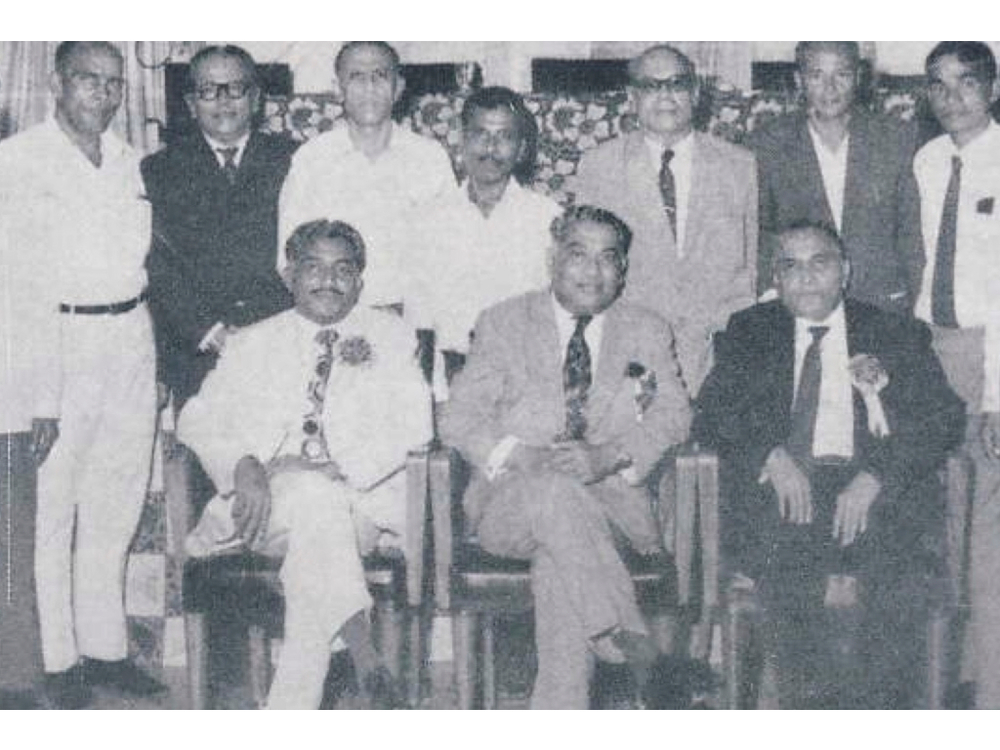 The three brothers under whose stewardship the Chowgule Group undertook its major expansion from the 1950s onwards. Seated from left: Yashwantrao Chowgule, Vishvasrao Chowgule and Laxmanrao Chowgule