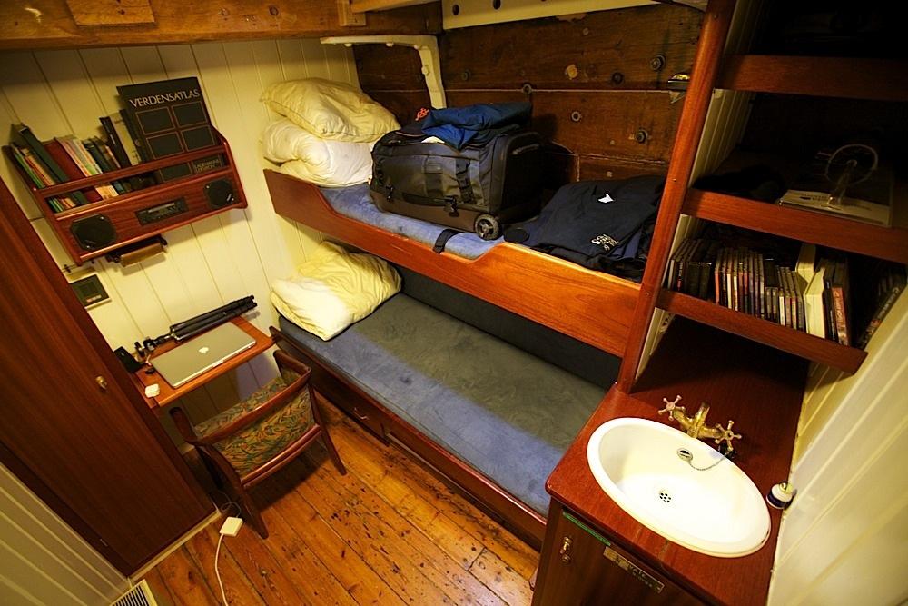 My room on the Donna Wood, docked in Nyhavn, Copenhagen, Denmark.