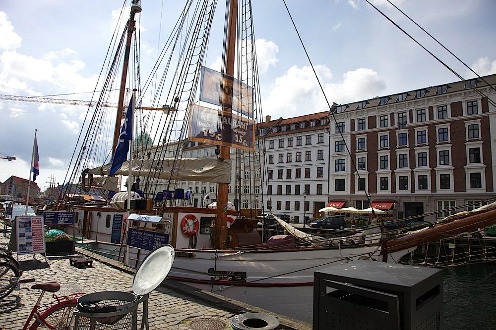 The Donna Wood, docked in Nyhavn, Copenhagen, Denmark.