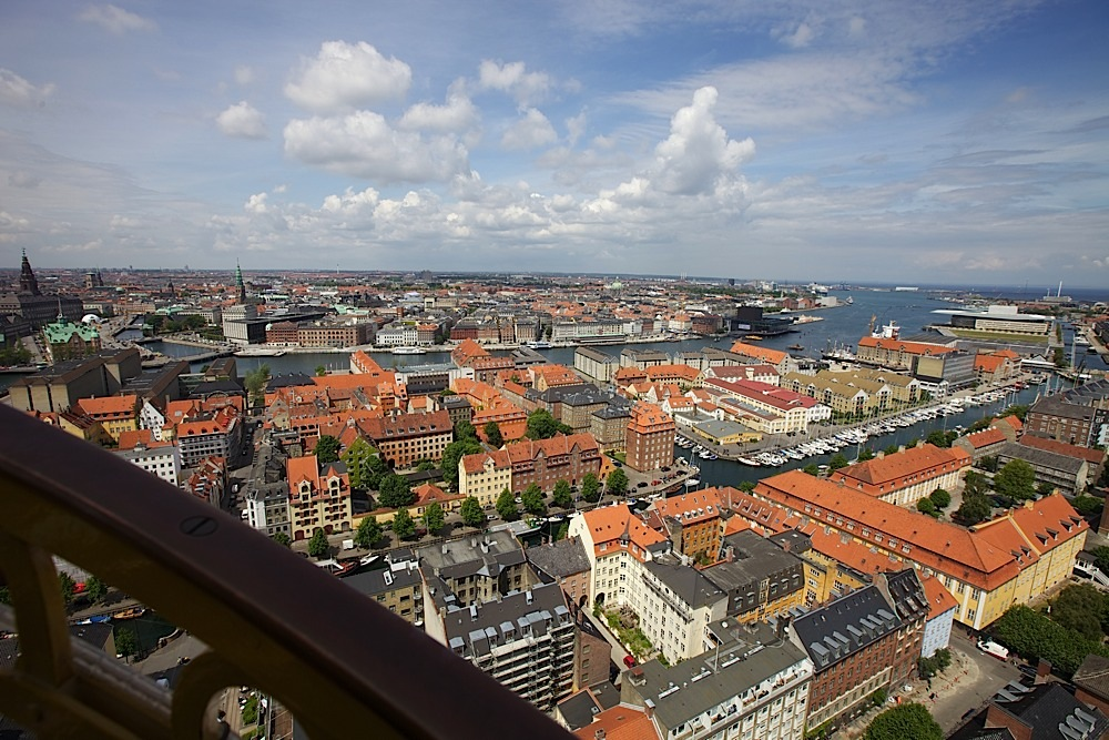 The view from some point in the staircase at Vor Frelsers Kirke, Copenhagen, Denmark.
