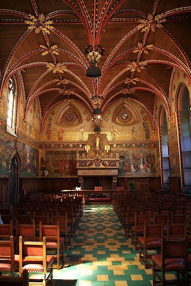 Bruges City Hall in Bruges, Belgium.