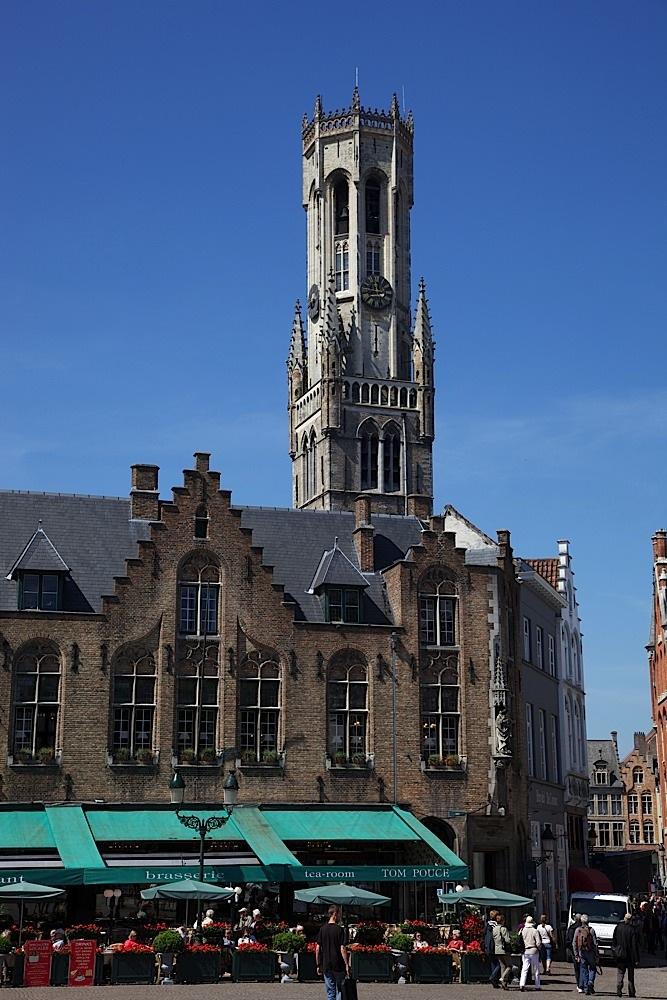 Another view of the Belfort in Bruges, Belgium.