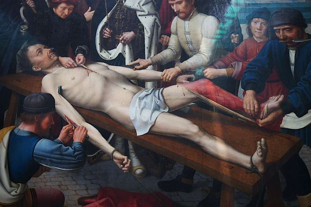 """Gerard David's """"The Judgement of Cambyses,"""" 1498, oil on wood, at the Groeninge Museum in Bruges, Belgium."""