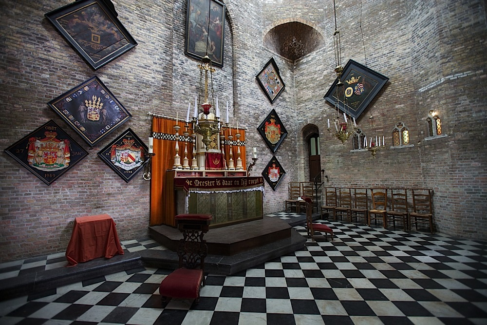 Inside Jeruzalemkerk in Bruges, Belgium.