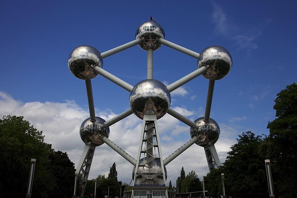The Atomium in Brussels, Belgium.